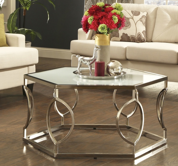 Hexagonal Metal Overstock Coffee Table Scrolled Metal And Wood Coffee Table