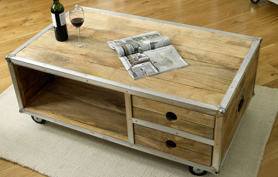 Coffee Table On Wheels Design Images Photos Pictures