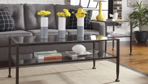 Industrial Coffee Table Wrought Iron Style