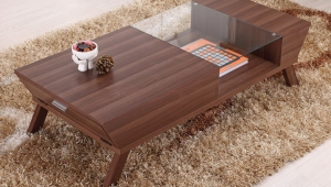 Innovative Walnut Coffee Table