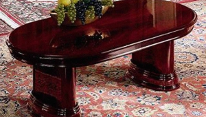 Lacquer Mahogany Coffee Table