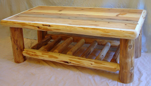 Lodge Log Coffee Table