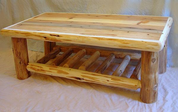 Lodge log coffee table for Log coffee table