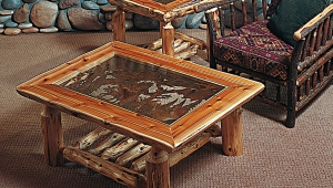 Log Coffee Table Decor