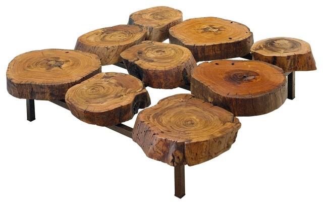 Log coffee table design for Log table design