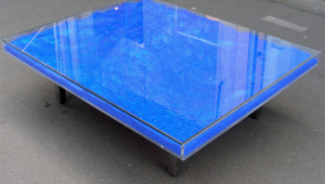 Low Blue Coffee Table