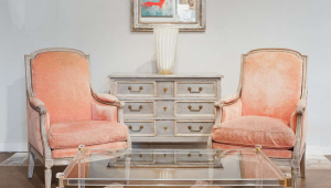 Lucite Coffee Table French Style