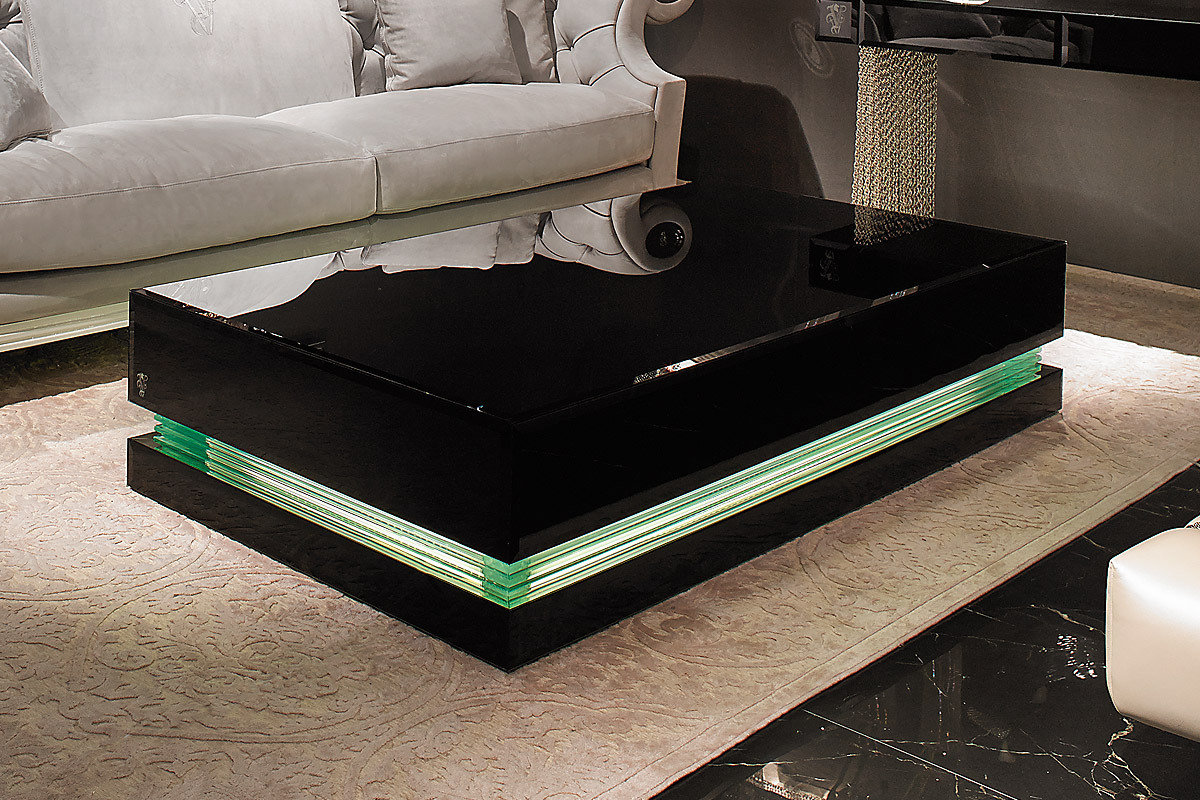Black lacquer coffee table design images photos pictures for High end glass coffee tables