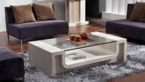 Marble Coffee Table With Glass Top
