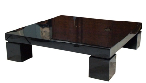 Massive Black Lacquer Coffee Table