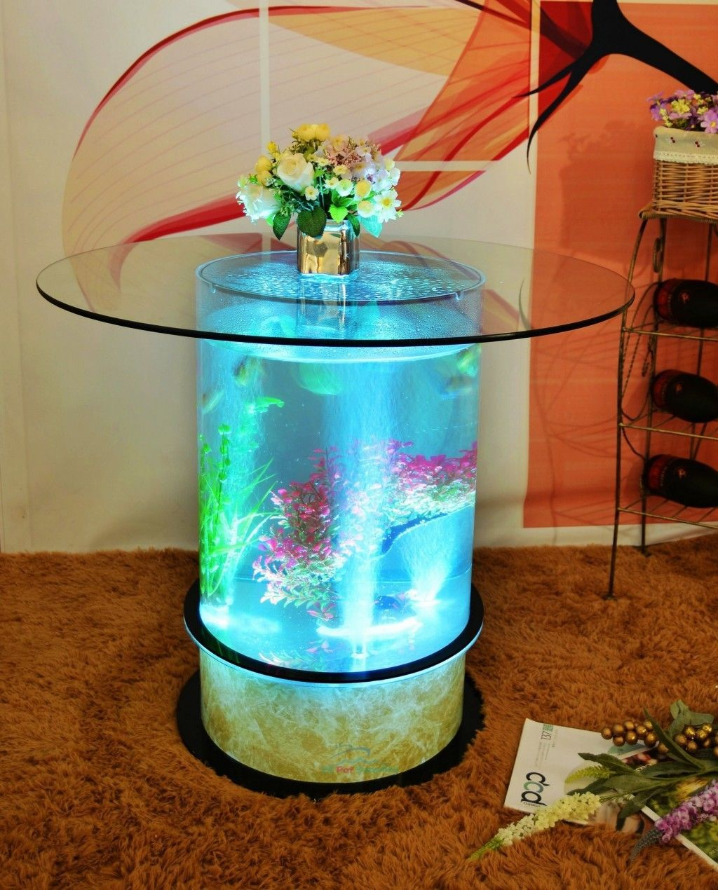 Mini aquarium coffee table - Aquarium coffee table diy ...