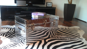 Mirrored Coffee Table Trunk
