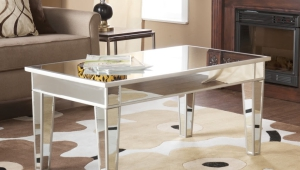 Mirrored Coffee Table With Mirrored Legs
