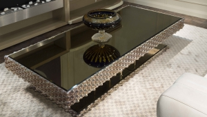 Mirrored Dark Coffee Table