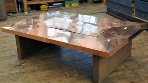 Modern Copper Coffee Table