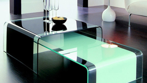 Modern Painted Glass Coffee Table