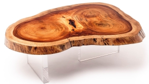 Original Wood Slab Coffee Table