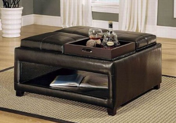 Ottoman Coffee Table With Multiple Trays - Ottoman Coffee Table Tray Design  Images Photos Pictures - - Coffee Table Storage Ottoman House PR