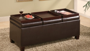 Ottoman Storage Coffee Table Tray
