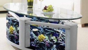 Oval Fish Tank Coffee Table