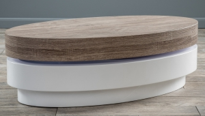 Oval Swivel Coffee Table