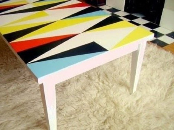 Painted Funky Coffee Table