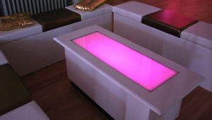 Pink Led Coffee Table