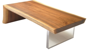 Raw Wood Slab Coffee Table