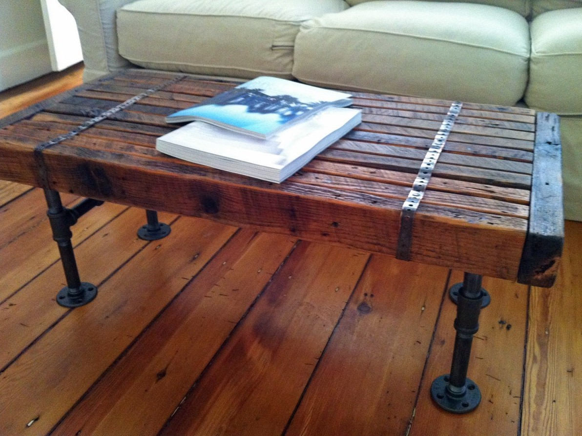 Reclaimed wood coffee table design images photos pictures Legs for a coffee table