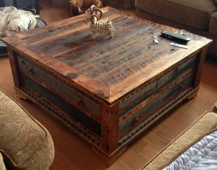 Reclaimed wood coffee table design images photos pictures for Reclaimed wood table designs