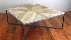 Reclaimed Wood X Base Coffee Table