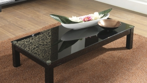 Rectangular Black Lacquer Coffee Table
