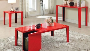 Red Coffee Table Set
