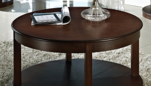 Round Espresso Coffee Table