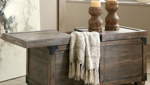 Rustic Coffee Table Trunk Style With Storage