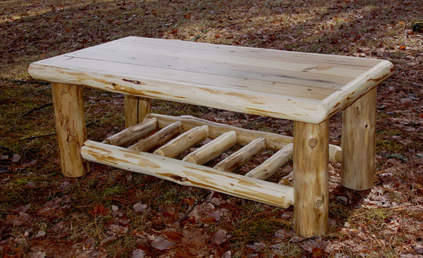 Rustic log coffee table for Log coffee table