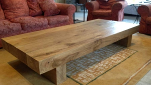 Rustic Wood Coffee Table Design