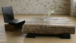 Rustic Wood Coffee Table Idea