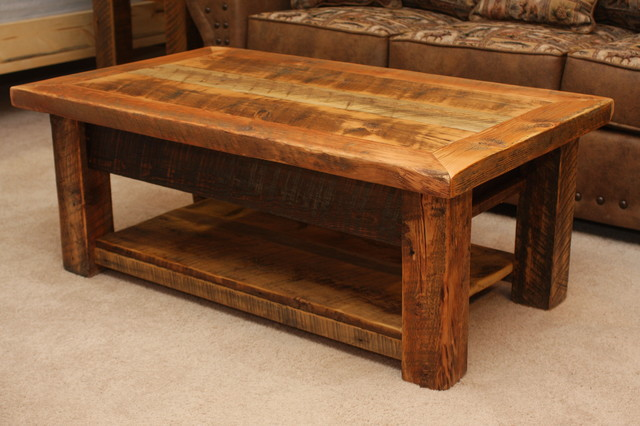 Rustic Wood Coffee Table Design Images Photos Pictures