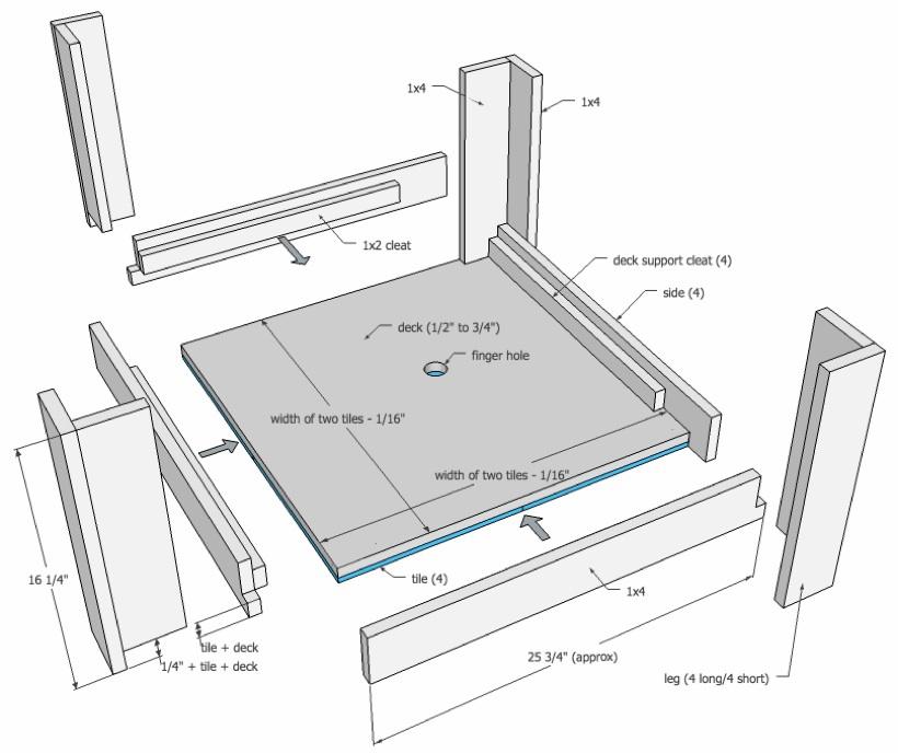 Tray Table Ottoman
