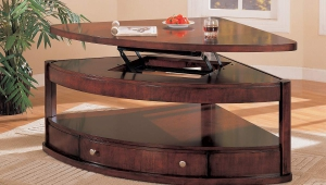 Shaped Lift Top Coffee Table