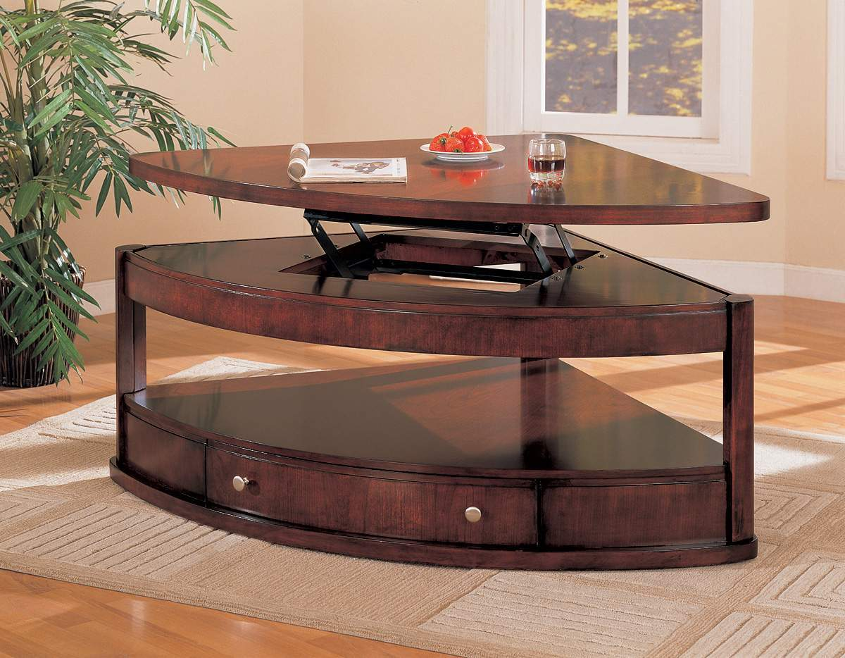 Lift top coffee tables design images photos pictures Espresso coffee table