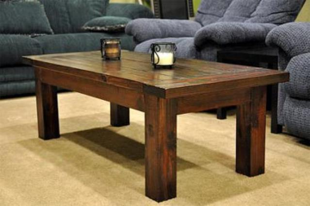 Rustic wood coffee table design images photos pictures for Rustic simplicity