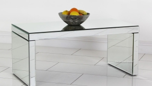 Simple Small Mirrored Coffee Table