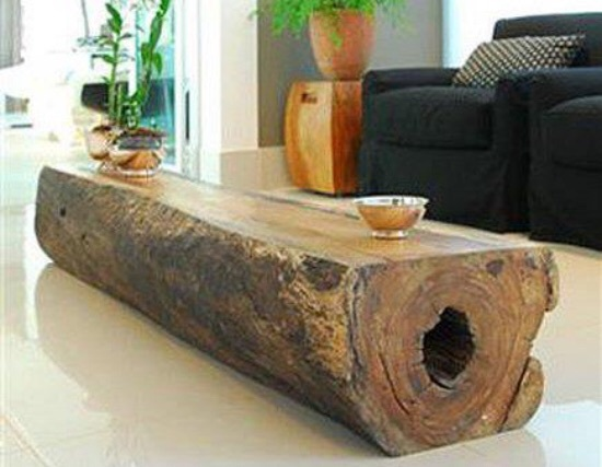 Single Log Coffee Table - Log Coffee Table Design Images Photos Pictures