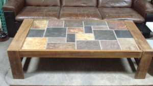 Slate Tile Coffee Table