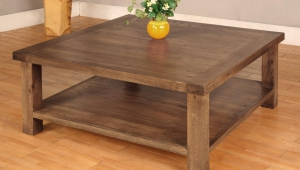 Solid Oak Wood Coffee Table