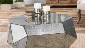 Special Form Mirrored Coffee Table