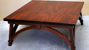 Square Mahogany Coffee Table
