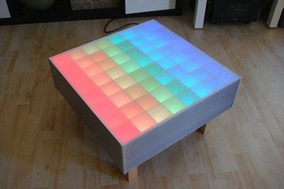 Square RGB Led Coffee Table - Led Coffee Table Design Images Photos Pictures